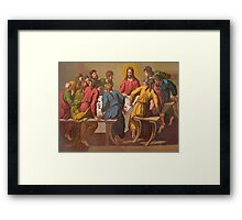 The Last Supper.  [after Raphael.] Framed Print