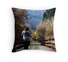 Crossing Bridges Throw Pillow