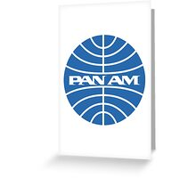 Pan Am Airlines Greeting Card