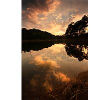 Sunburst over Umiam Photographic Print