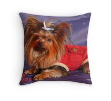 Baby's Christmas Attire ll Throw Pillow