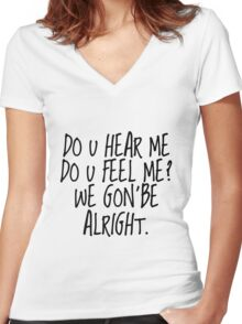 Kendrick Lamar - Alright Women's Fitted V-Neck T-Shirt