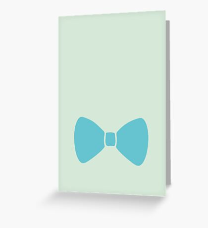Turquoise Pastel Bow Greeting Card