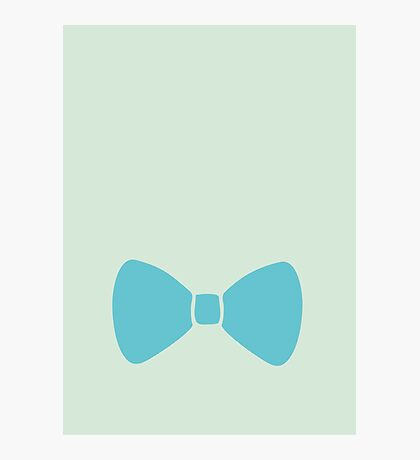 Turquoise Pastel Bow Photographic Print