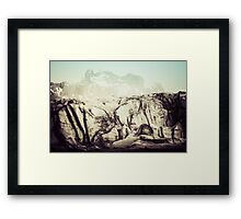 At the Glacier Framed Print