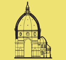 Duomo Cathedral Florence Kids Tee
