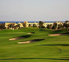Taba Heights Golf Resort Hole 14 Par 5 by Helen Shippey