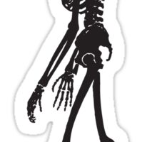 Silhouette of Human skeleton Sticker