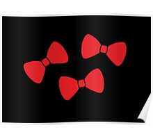 Red Bows Pattern Poster