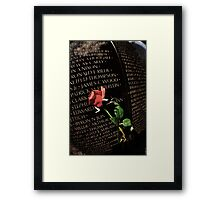 Death is Never Dead Framed Print