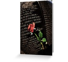 Death is Never Dead Greeting Card
