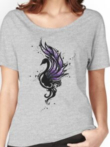 Tribal Black Swan Women's Relaxed Fit T-Shirt