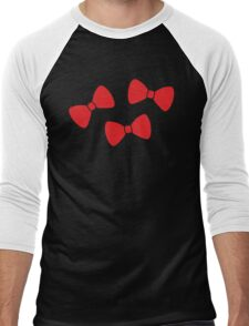 Red Bows Pattern Men's Baseball ¾ T-Shirt