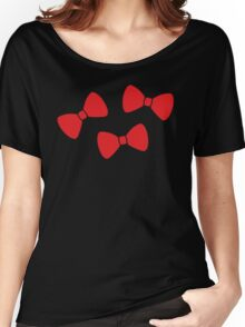 Red Bows Pattern Women's Relaxed Fit T-Shirt