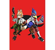 Fox and Falco Photographic Print