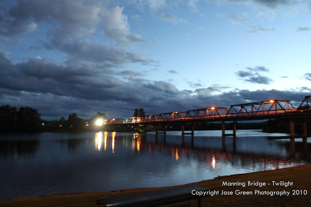Manning River Bridge - Twilight by Jason Allan
