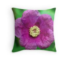 Crumpled Mauve Throw Pillow