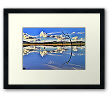 Mirror, Mirror On The Weir. Framed Print
