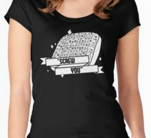 """Fabulous PROPHET - """"SCREW YOU"""" sign Women's Fitted Scoop T-Shirt"""