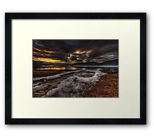 Sundown over Loch Ness Framed Print