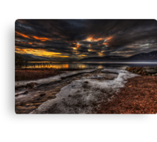 Sundown over Loch Ness Canvas Print