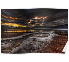 Sundown over Loch Ness Poster