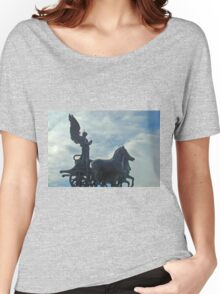 The Quadrigas, Monument to Vittorio Emanuele II, Rome, Italy - II Painting Women's Relaxed Fit T-Shirt