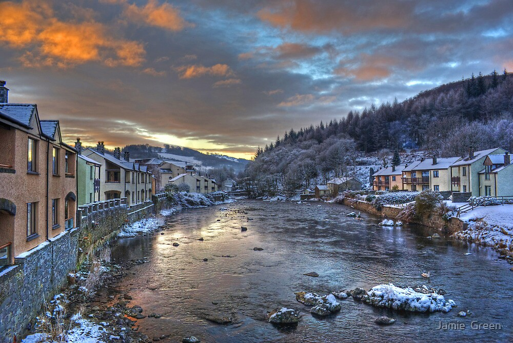 River Leven at Christmas by Jamie  Green