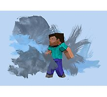 Minecraft Steve- Watercolor Photographic Print