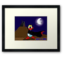 "Rick the chick ""DRACULA"" Framed Print"