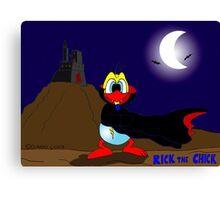 "Rick the chick ""DRACULA"" Canvas Print"