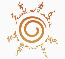 Naruto Kyuubi Seal (Orange Gradient) Kids Clothes