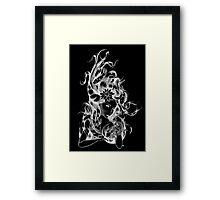 The Fish Whisperer In Negative Framed Print