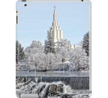 Mormon Temple - Idaho Falls Winter Scene iPad Case/Skin