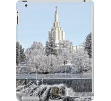 Mormon Temple - Idaho Falls Winter Scene iPad Case/Skin