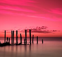 Port Willunga Jetty Ruins by Darryl Leach