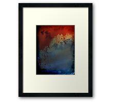 Blood Splatter Framed Print