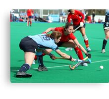 Hockey tackle Canvas Print