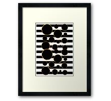 Behind the Screen Black and White Framed Print