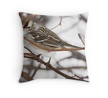 Tree Sparrow Throw Pillow