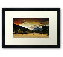 A Firey Autumn Sunset Framed Print