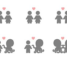 Tentacle Love (stickers) by Josh Bush