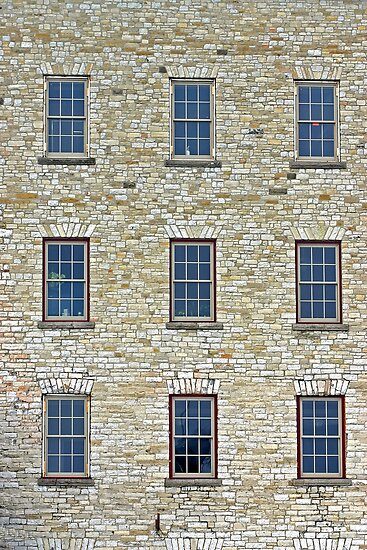 Windows on the Old Mill - Almonte Ontario by Debbie Pinard