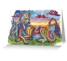Sunset Coyote Greeting Card