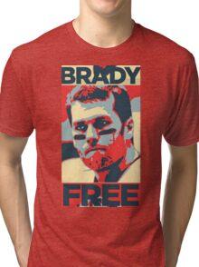 BRADYS FREE BRADY CURSE REVERSED Deflategate TOM Overturned Tri-blend T-Shirt