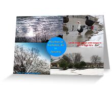 January Weather in Gadsden Greeting Card