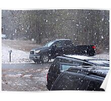Are Black Vehicles a Requirement for Driving in Snow? Poster