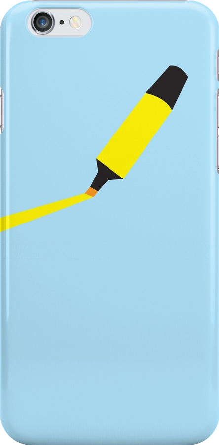 A Yellow Highlighter marker  by jazzydevil