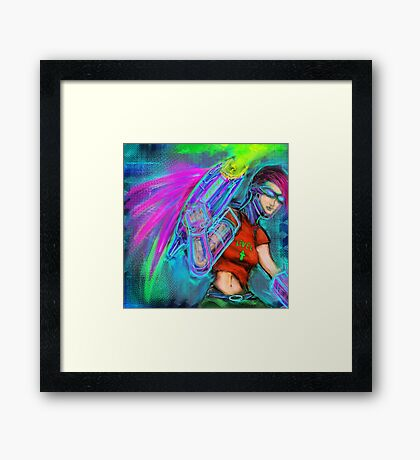 Gamer Girl Framed Print