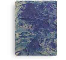 swirling waves in the deep sea Canvas Print